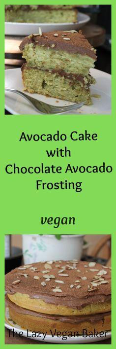 Avocado Cake with Chocolate Avocado Frosting