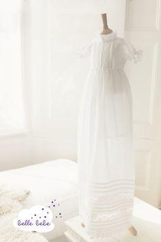 #Christening #gown for boys and girls. #heirloom # baptism http://www.bellebebe.co.uk/