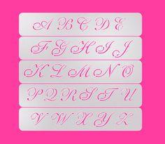Cookie Letter Stencil Wedding Cookie Stencil Cake by makeandfun
