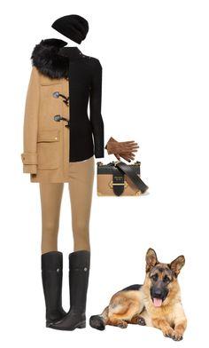 """German Shepherd"" by rachael-aislynn ❤ liked on Polyvore featuring Prada, Polo Ralph Lauren, Tory Burch, Balmain, Zara, Rick Owens, Fall, black, Boots and Tan"