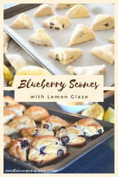 These Blueberry Scones are always a hit! They go perfect for a brunch or weekend treat! I cut them in half to make 2x the normal batch! #scones #brunch #blueberry #breakfast #nomnom #lemonglaze