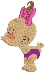 Free Embroidery Design: Kissing Baby