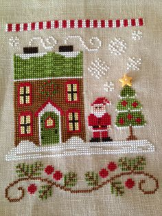 A Kiwi Stitching:  Santa's House by CCN