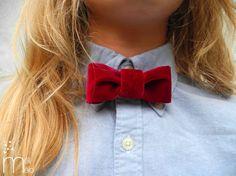 How to make a Velvet bow tie #diy