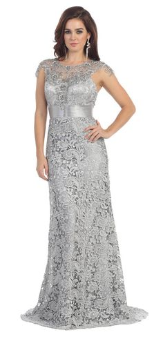 Plus Size Long Formal Evening Gown Mother of the Bride Dress #TheDressOutlet #Formal