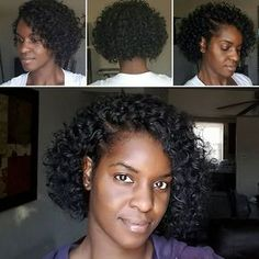 More crochet braids with leftover Freetress Gogo Curl hair - only 1 1/4 packs. By Joy Wrenn Creative