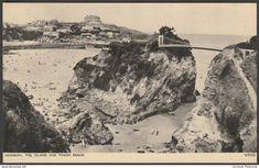 The Island and Towan Beach, Newquay, Cornwall, c.1950 - Photochrom Postcard