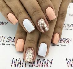 Are you looking for summer nails colors designs that are excellent for this summer? See our collection full of cute summer nails colors ideas and get inspired! Nails 61 Summer Nail Color Ideas For Exceptional Look 2019 Summer Holiday Nails, Summer Nails 2018, Cute Summer Nails, Cute Nails, Nail Summer, Summer Shellac Nails, Nails Summer Colors, Summer Vacation Nails, Gold Gel Nails