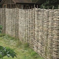 Wattle hurdles are made from woven hazel rods. They make an attractive rustic fence which is ideal for protecting a newly planted hedge providing a screen until the plants are established.