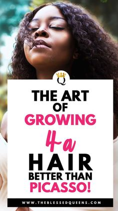 The Art Of Growing Hair Better Than Picasso! - The Blessed Queens Long Natural Curls, Natural Hair Tips, Natural Hair Growth, Natural Hair Styles, Picasso, 4a Hair, Hair Updo, How To Cut Your Own Hair, Cool Hairstyles
