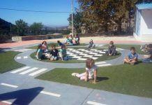 Το Δημοτικό Σχολείο στη Νάξο με το ωραιότερο προαύλιο που είδαμε ποτέ Baseball Field, Sports, Rollers, Hs Sports, Sport