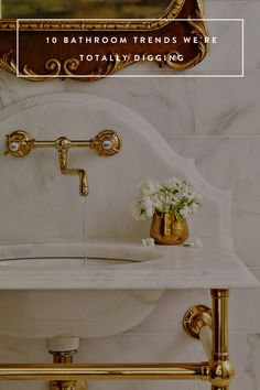 10 Bathroom Trends We're Totally Digging  Some are a little too modern for me...