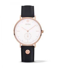Uhr Celebrate Line White Rosegold Leather Black CEYOLI ist eine Mission! Die Uhren für Damen in rosegold begleiten dich jeden Tag und erinnern dich dein Leben zu feiern.