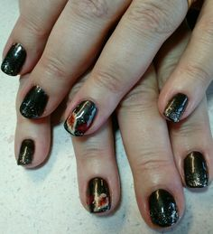 Fall glamour nail art by Heather Jenkins