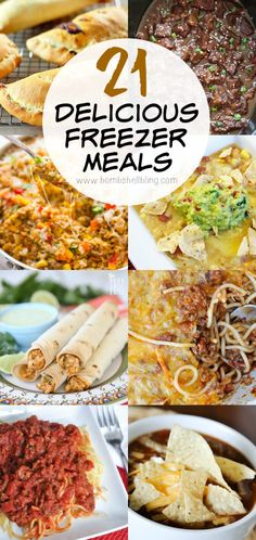 Freezer meals - perfect for busy families!  meaty spaghetti sauce, baked tortellini casserole, beef stew, chicken taquitos, shredded barbeque chicken sandwich, korean beef, chicken teriyaki, sweet & sour meatballs