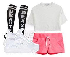 """""""Team: Pink Panthers"""" by jaliyahk on Polyvore featuring Kendall + Kylie, H&M, Hope and NIKE"""