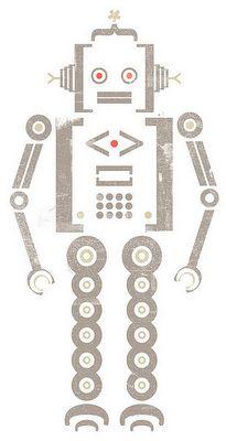 super cute robot by Leanda Xavian