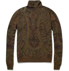 Etro Paisley-Print Wool Rollneck Sweater | MR PORTER