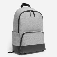 This twill backpack has a contrast base that's screen printed 11 times for durability and protection against wet grass and dirty floors.