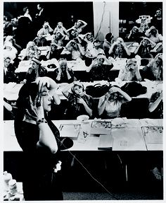 Mala Rubinstein during a beauty class  Helena Rubinstein beauty Institute.