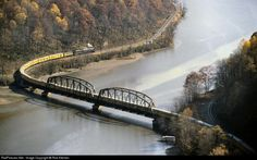 RailPictures.Net Photo: CO 614 Chesapeake & Ohio (C&O) Steam 4-8-4 at Hawks Nest, West Virginia by Rob Kitchen. C&O 614 pulling the Chessie Safety Express across the Hawks Nest Bridge deep in the New River Gorge of West Virginia in October of 1981.