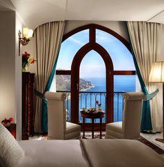Gorgeous King Sea View Room on Italy's Amalfi Coast at Palazzo Avino!