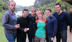 Hobbit actors Hugo Weaving, Andy Serkis, Martin Freeman, Zealandia's Lauren Schaer, Elijah Wood and Richard Armitage pay a visit to Wellington's Zealandia www.stuff.co.nz