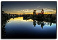 Spokane River Sunset, along the Centennial Trail