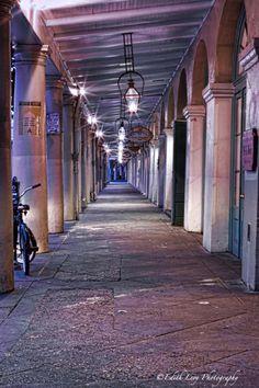 Decatur Street, New Orleans, sunrise, cafe du monde,