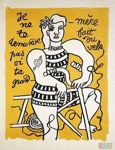 """I'm not asking you if your grandmother biked"" by Fernand Leger."