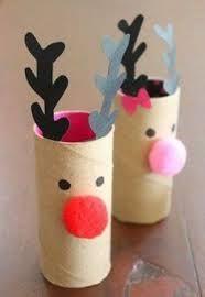 adornos de navidad con rollos de papel higienico - Buscar con Google                                                                                                                                                      Más