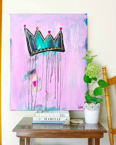 Contemporary art fairytale artwork raw outsider art crown