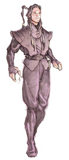 "Concept art from ""Star Wars Episode I : The Phantom Menace"" (1999)."