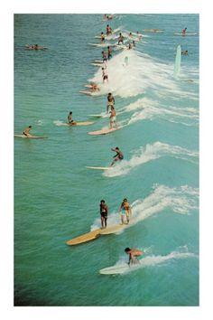 Vintage surf poster.
