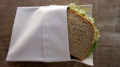 Organic Cotton Sandwich bag with flip top closure