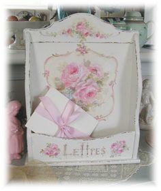 """Vintage Roses """" Lettres"""" Holder repisa rosas"""
