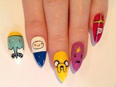 SALE Adventure time stiletto nails, Nail designs, Nail art, Nails, Stiletto nails, Acrylic nails, Pointy nails, Fake nails on Etsy, $40.92