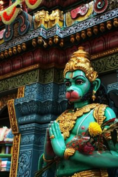 This monkey god hanuman our family god in India.