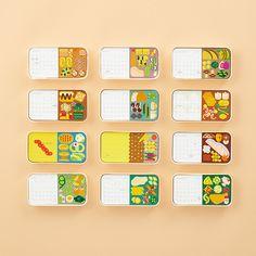 2017 BENTO CALENDAR | 株式会社一九堂印刷所 Graphic Design Magazine, Magazine Design, Creative Calendar, Kids Calendar, Print Layout, Layout Design, Design Design, Kalender Design, Cookbook Design