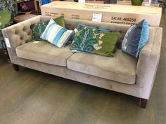 LOVE this velour couch from World Market!!!!