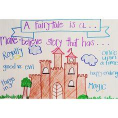 Fairytale anchor chart // Cinderella CCSS Unit 2 Kindness Kindergarten Anchor Charts, Reading Anchor Charts, Nursery Rhyme Theme, Nursery Rhymes, Fairy Tale Activities, Preschool Activities, Traditional Literature, Fairy Tales Unit, Fairy Tale Theme