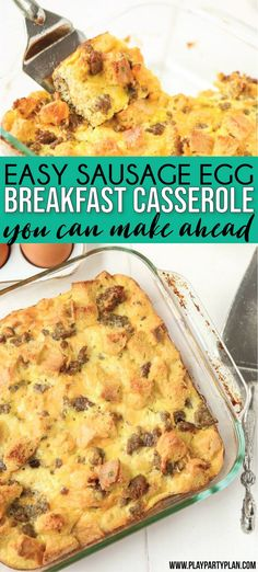 The best sausage breakfast casserole with bread cubes! Super easy to make ahead … The best sausage breakfast casserole with bread cubes! Super easy to make ahead overnight and serve for a crowd! One of our favorite ever brunch recipes! Christmas Breakfast Casserole, Breakfast Casserole With Biscuits, Overnight Breakfast Casserole, Slow Cooker Breakfast, Bread Breakfast Casserole, Egg Casserole With Bread, Easy Sausage Casserole, Sausage Bread, Best Sausage