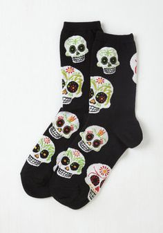 Wake Up Calavera Socks
