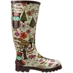 Chooka Women's Owl City Knee-High Boot: Shoes, found on Wellies Boots, Muck Boots, Shoe Boots, Shoe Bag, Cute Rain Boots, Cute Shoes, Rubber Rain Boots, Owl City, Vans Sneakers