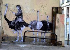 "Levalet's new work: ""Locomotion"" Paris, France - Nov 2014"