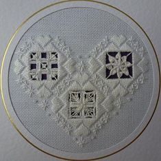 I just wanted to share with you all some of my Hardanger, which I have stitched over the years.     My daughter's Birthday Card. Hardanger ...