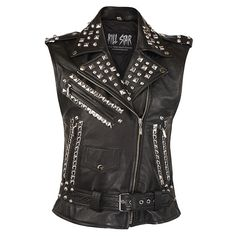 TO DIE FOR: Studded Leather Vest [B]