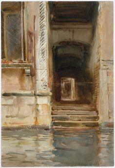 "classic-art: ""Venetian Passageway John Singer Sargent, c. 1905 """