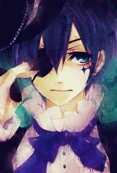 """Yooooo!!!! >w<  Vim trazer pra vocês uma seção do Ciel (Porque eu adoro ele <3)  O anime em que ele aparece é """"Kuroshitsuji""""  Espero que gos..."""