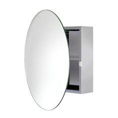 Croydex WC836005YW Severn Circular Mirror Cabinet at ATG Stores